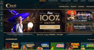 page d'accueil de cheri casino