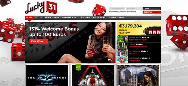 Le casino en ligne et live Lucky31
